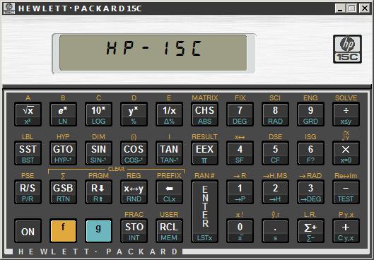 EmuCR: HP15C